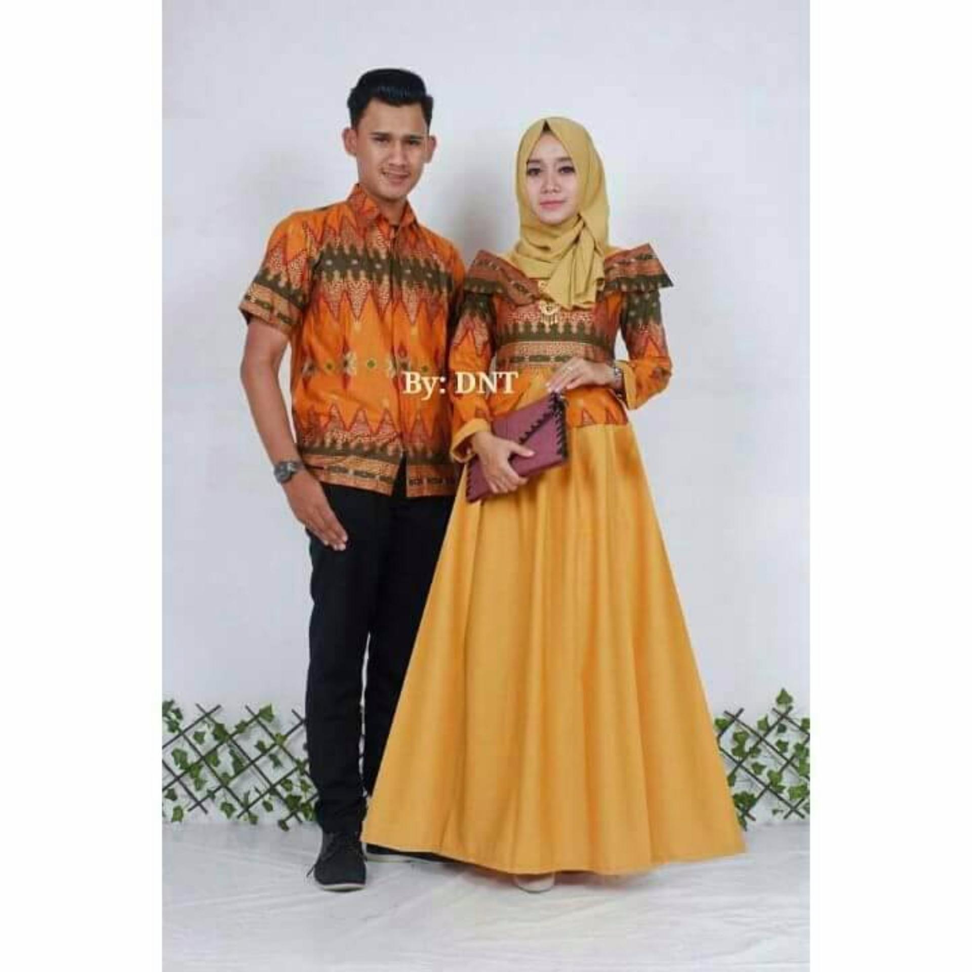 Harga Batik Couple Batik Sarimbit Princess Jasmine Mustard Di Yogyakarta