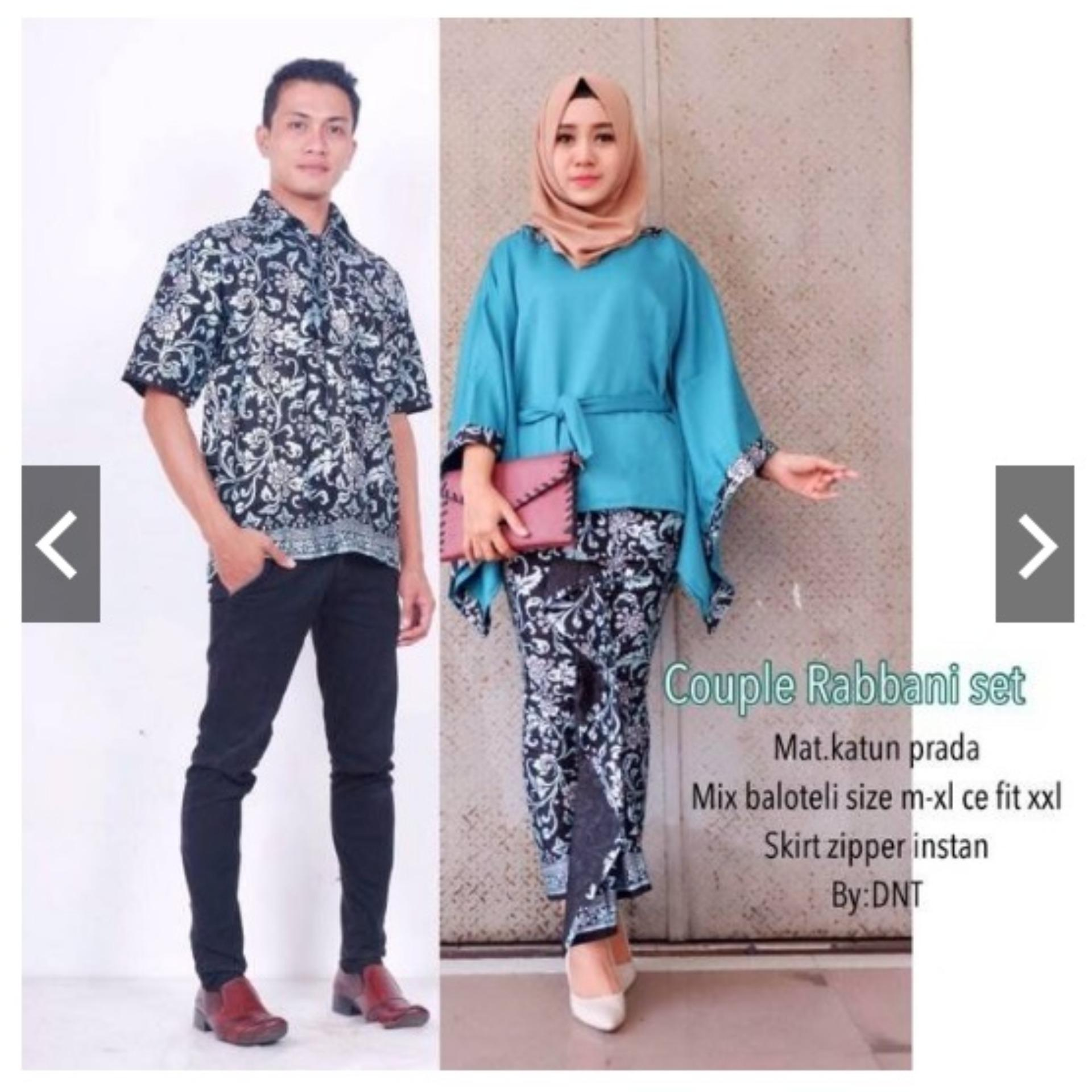 BATIK COUPLE / BUSANA COUPLE RABBANI SET