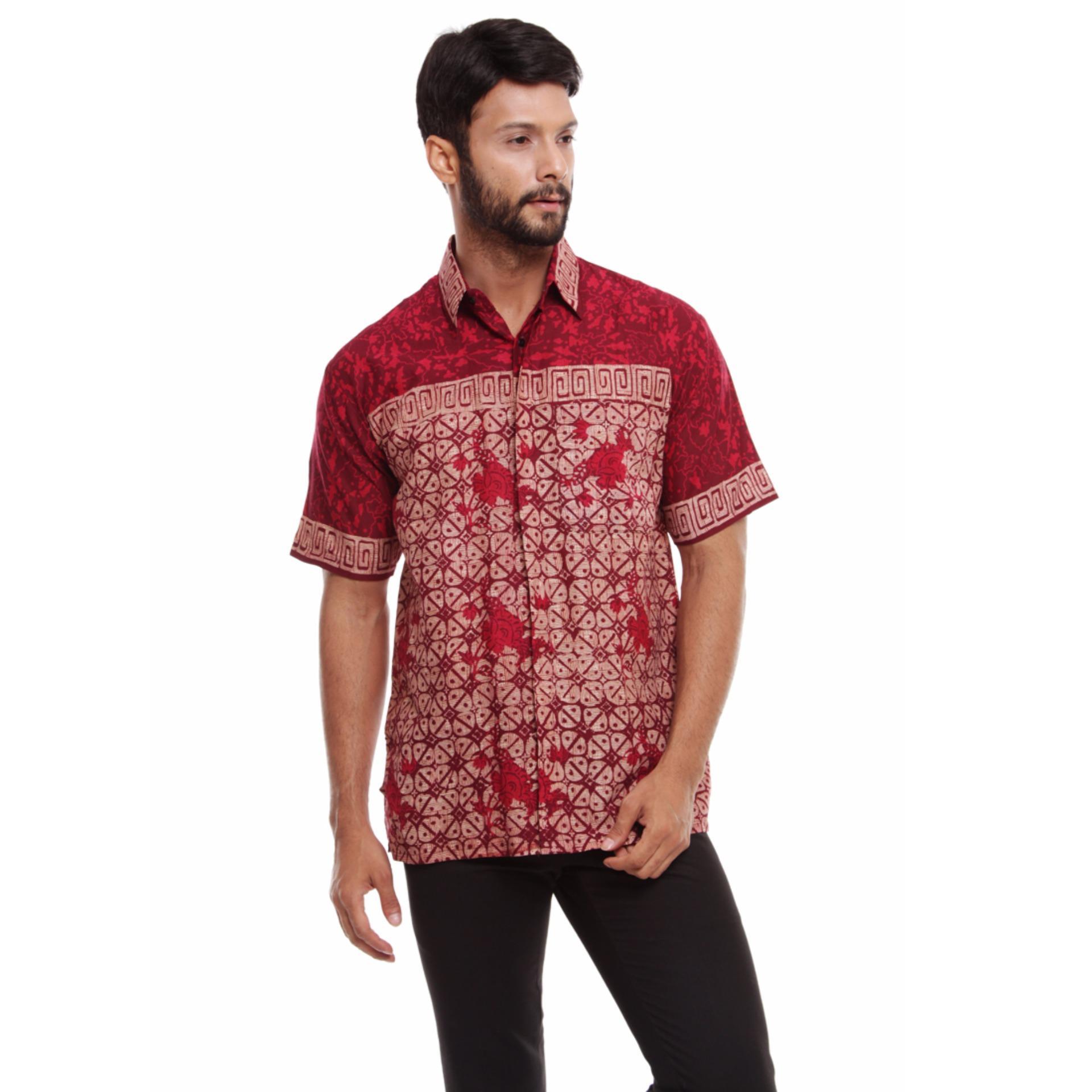 Batik Trusmi-Hem Keong PS-Merah