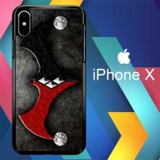 BATMAN HARLEY MERGE OF THE SYMBOL Z1099 iPhone X Case