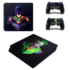 Batman VS Joker Kulit Vinyl Sticker untuk Sony PlayStation 4 Slim PS4 Slim Console & 2 Pcs Controller Perlindungan Film Stiker YSP4S-0365-Intl