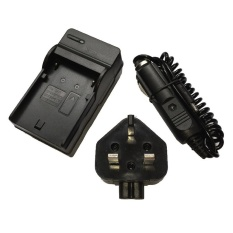 Battery Charger for CANON EOS 1000D ( EOS Rebel XS / Kiss F )Digital SLR Camera AC+DC Wall+Car - intl