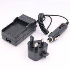 Baterai Charger untuk JVC Everio GZ-HM300 GZ-HM300SEK GZ-HM300BUGZ-HM300BUS AC + DC Wall + Car (Hitam)-Intl
