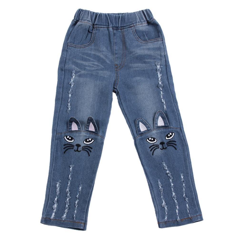 Harga Bayi Gadis Anak Anak Jeans Lucu Kartun Kucing Panjang Celana Intl Termurah