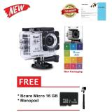 Dapatkan Segera Bcare Action Camera B Cam X 2 Wifi 12 Mp Full Hd 1080P Silver Gratis Micro 16Gb Class 10 Monopod