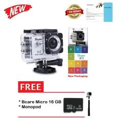 Toko Bcare Action Camera B Cam X 2 Wifi 12 Mp Full Hd 1080P Silver Gratis Micro 16Gb Class 10 Monopod Dekat Sini