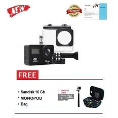 Bcare BCam X-3 4K DUALSCREEN BLACK + Sandisk 16 GB + Monopod + Bag