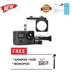 Spesifikasi Bcare Bcam X 3 Action Camera Wifi 16 Mp 4K Dual Screen Layar 2 Sony Sensor Grey Sandisk 16Gb Monopod Baru
