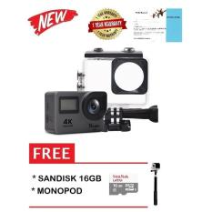 Bcare BCam X-5 Action Camera WiFi 16MP GREY + Sandisk 16 GB + Monopod / Action Cam Wifi 16MP