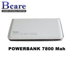 BCare Slim leather case Power Bank 7800 mAh Slim Wlllet Original - Putih