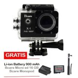 Harga Bcare X 1 Action Camera 12 Mp Hitam Gratis Micro Sd 16 Gb Class 10 Monopod Battery 900 Mah Lengkap
