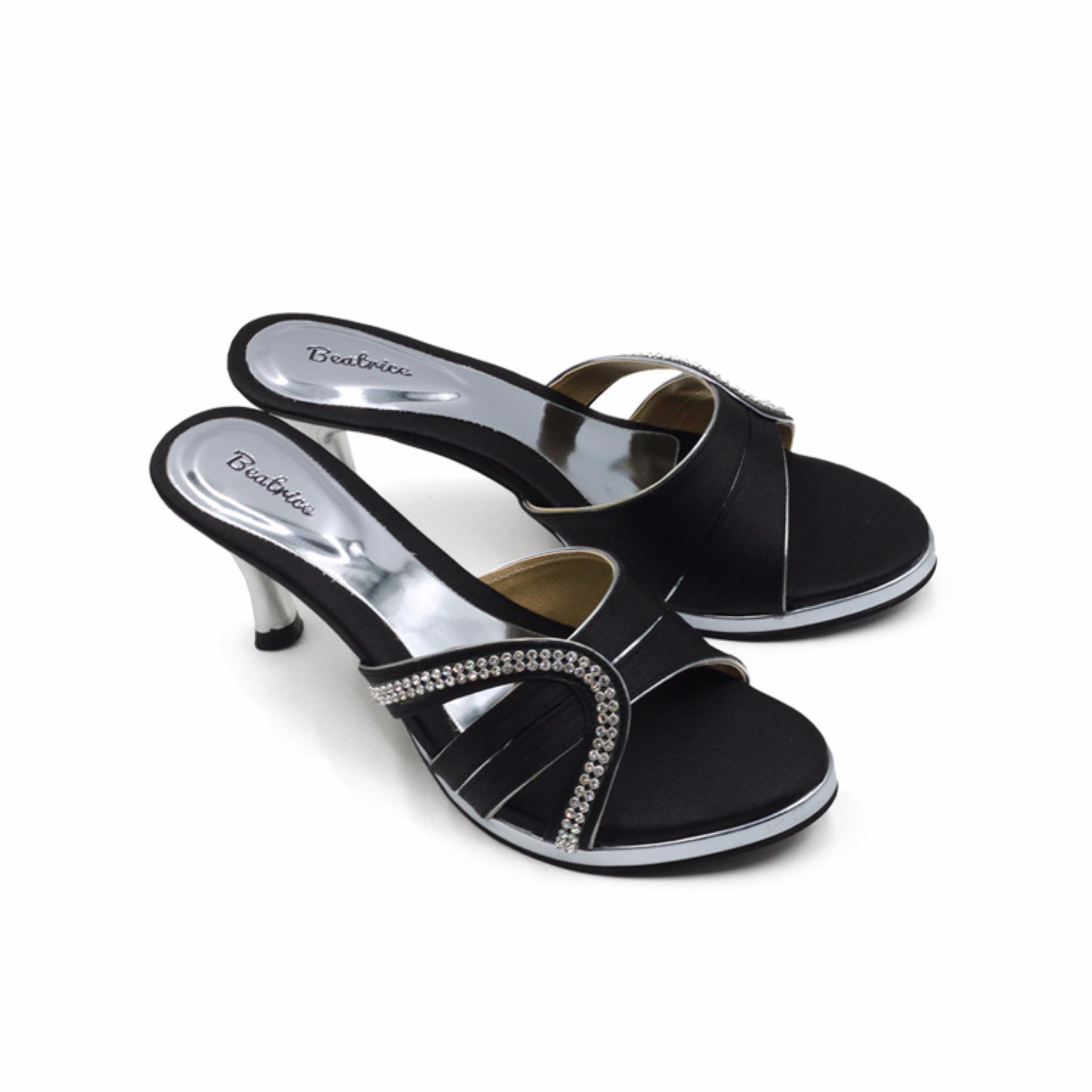 Beatrice Heel Sandals Hak 7 Cm Md 705 Hitam 36 41 Jawa Timur