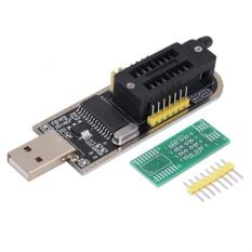Beau 25 SPI Seri 24 EEPROM Ch341A BIOS Writer Routing Lampu Kilat LCD USB Programmer Hitam & Kuning-Intl