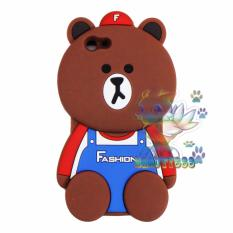 Beauty Bear Case 3D Oppo F1S A59 Silicone 3D Brown Bear Clothes Overall Design FASHION / Case Boneka Baju Beruang / Casing Oppo Boneka Unik  - Brown Line Bear FASHION