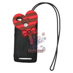 Beauty Case 3D Xiaomi Redmi 3S Silicone 3D Lollipop Love Candy Rush Sugar + Necklace Kalung Jelly Case / Silikon Boneka / Soft Case /  Silicone Case 4D Unik / Case Xiaomi Redmi 3S / Silicone Case 3D Lolipop - Merah / Red
