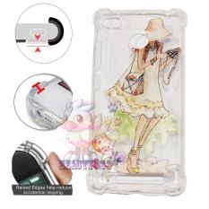 Beauty Case Anti Crack 3D Xiaomi Redmi 3X Case Luxury Animasi Perempuan Memakai Kamera Softcase Anti