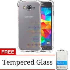 Beauty Case For Samsung Galaxy J7 Core Ultrathin Anti Shock / Anti Crack Luxury Softcase Anti Jamur Air Case 0.3mm / Silicone Samsung Galaxy J7 Core / Soft Case / Case Hp + FREE Tempered Glass- Putih Transparant