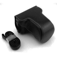 Beauty Leather Case Sarung Bag Srap Camera For Fujifilm X-M1/X-A1/X-A2/XM1/XA2/XA1 - Black/Hitam