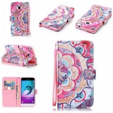 Beauty Luxury Fashion PU Flip Stand Kartu Kredit ID Pemegang Dompet Case Kulit Penutup untuk Samsung