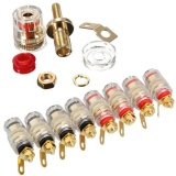 Ulasan Lengkap Tentang Beautymaker 8Pcs 4Mm Gold Plated Amplifier Speaker S Terminal Binding Post Banana Plug Jack Intl