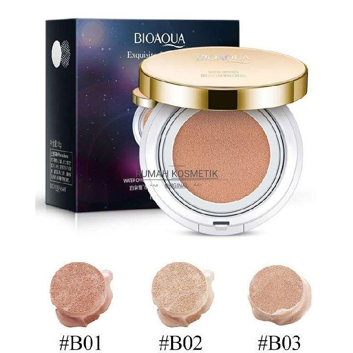 Bedak Bioaqua Bb Cream Cushion Exquisite Delicate Original Bpom Terbaru