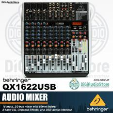 Behringer Xenyx QX1622USB 16 Input 2-2-Bus Audio Mixer with XENYX Mic Preamps Multi FX Processor Wireless Option and USB - Audio Interface - Soundcard