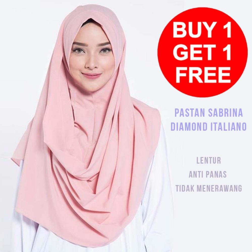 Beli 1 Gratis 1 Kerudung Jilbab Pashmina Instan Murah - Pastan Sabrina Diamond