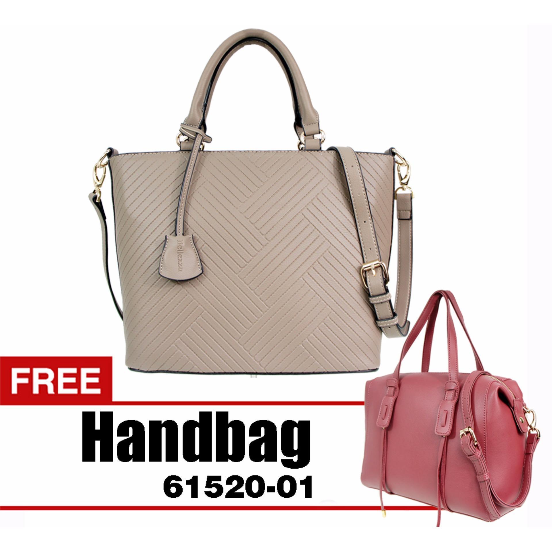 Bellezza 61509-01-Camel - Handbag - Tas Wanita - BUY 1 GET 1 FREE