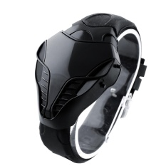 Benediction LED Digital Fashion Anak Laki-laki Pria Jam Tangan Cobra Besi Segitiga Dial Wrist Watch Baru-Internasional