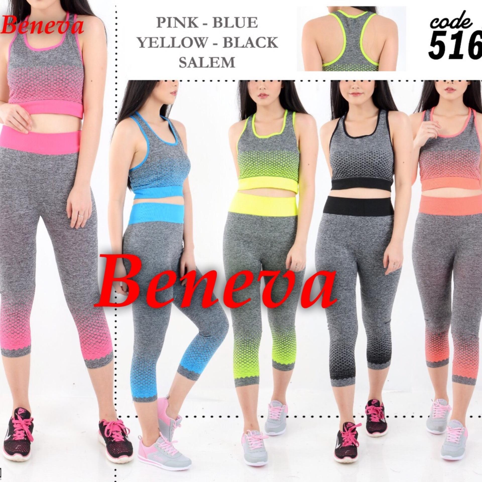 Top 10 Beneva Baju Senam Wanita Setelan Baju Senam Wanita Atasan Bawahan Sport Jogging Training Gym Online
