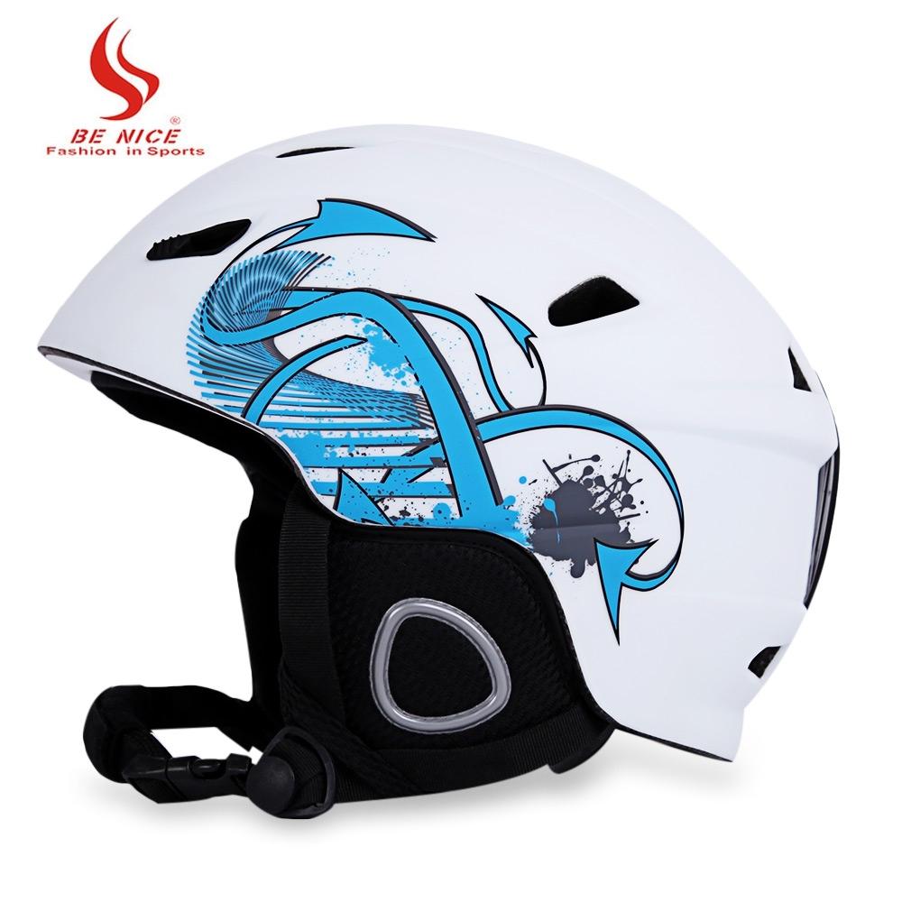 Benice Ski Helm Dengan Inner Adjustable Buckle Liner Lapisan Bantalan Putih Intl Terbaru