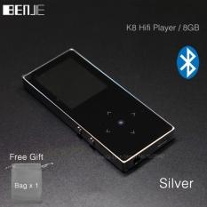 BENJIE K8 8 GB Bluetooth MP3 Musik Player Layar Sentuh Logam MP3 E-book FM Radio Perekam Dukungan 128 GB TF Kartu Kawat Control-Intl