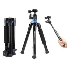 Benro IS05 Portable Light Aluminium Alloy Tripod Kit Center Kolom Dapat Beralih Ke Selfie Stick untuk Smartphone Mirrorless Kamera DSLR -Intl