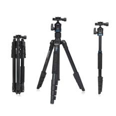 Benro IT15 Portable Aluminum Alloy Travel Tripod Kit with Ball Head Monopod for Canon Nikon Pentax Camera & DV - intl