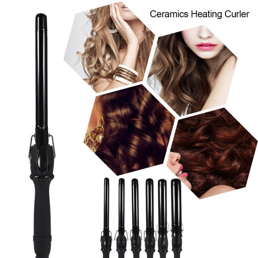 Harga Bentuk Tabung Besar Deep Curly Ceramic Curling Iron Heating Hair Curler 38Mm Intl Origin
