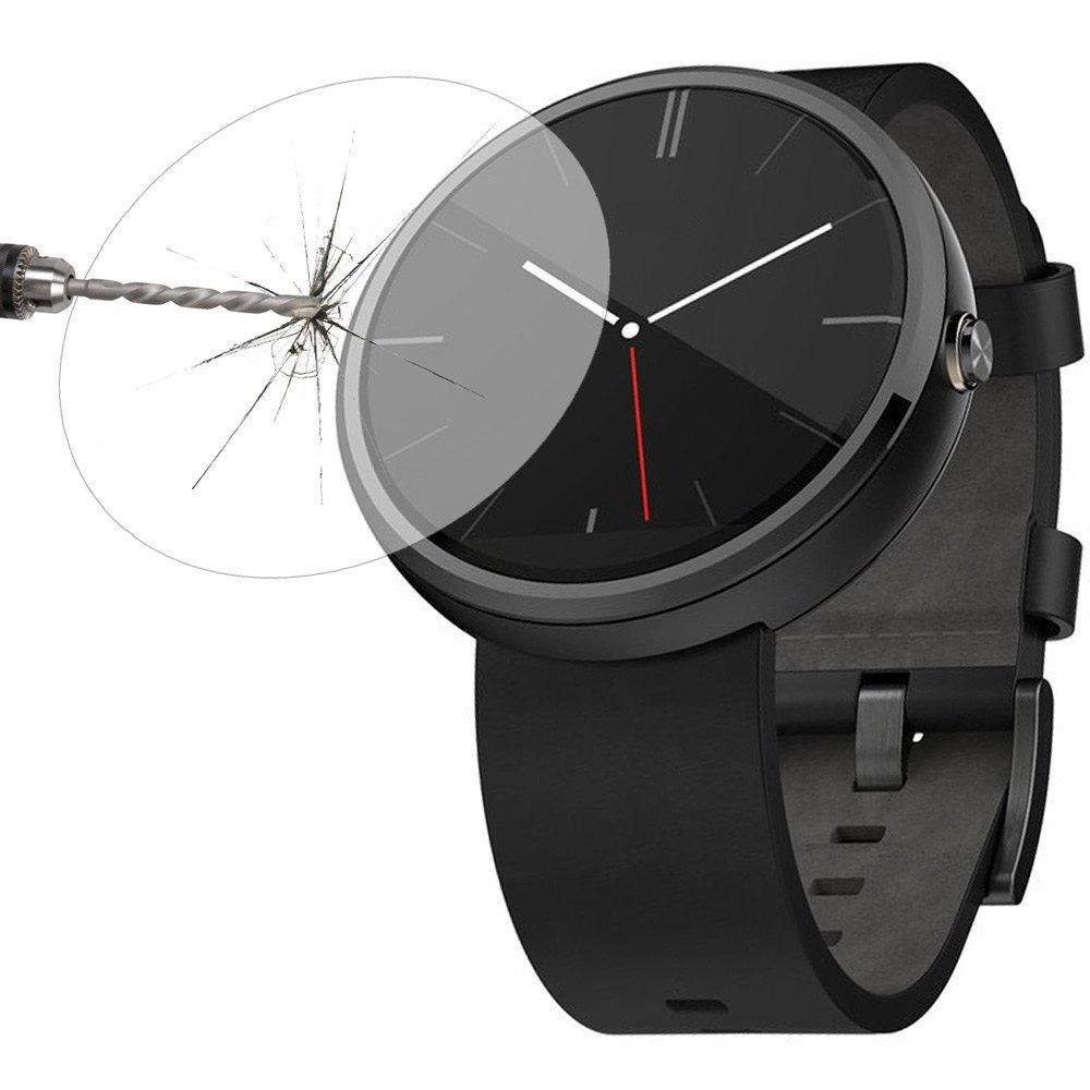 Berguna 0.2mm 9 H Hardness Tempered Glass Screen Protector untuk MOTO 360 Jam Tangan Pintar