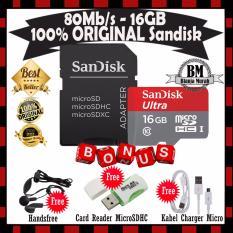 Toko Berhadiah Sandisk Memorycard Microsdhc 16Gb 80Mb S Sd Adapter Gratis Erphone Angel Cardreader Microsdhc Kabel Charger Casan Micro Usb Lengkap