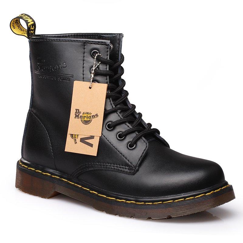 Berkualitas Tinggi Wanita Kulit Asli Boots (Hitam)-Intl