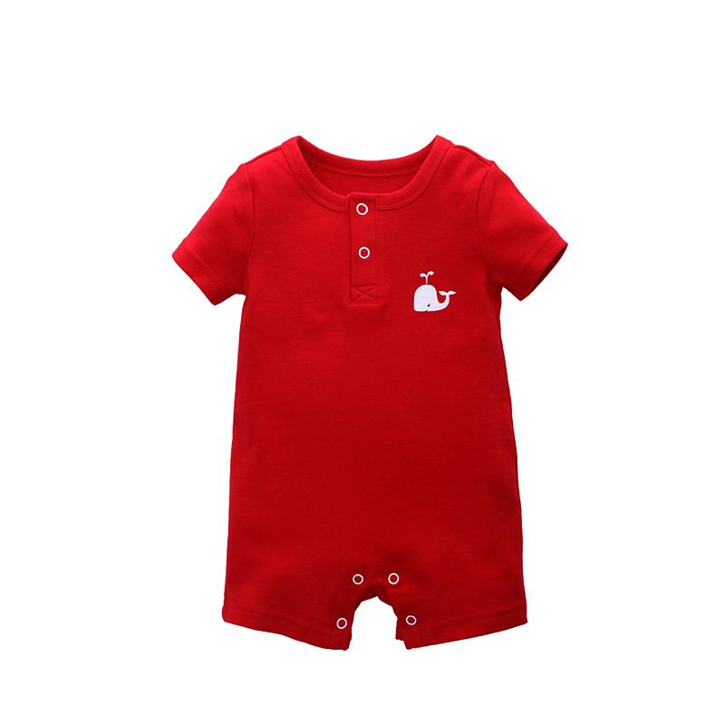 Spesifikasi Besar Merah Lengan Pendek Musim Panas Mendaki Pakaian Baju Bayi Yang Bagus