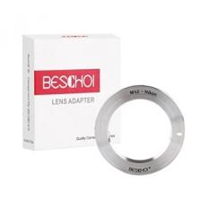 Beschoi Lens Mount Adapter Ring untuk M42 Screw Mount Lensa untuk Nikon F Kamera Kamera SLR, Sesuai dengan Nikon D7100, D7000, D5300, D5200, D5100, D5000, D3300, D3200, D3100, D3000-Intl