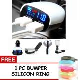 Cara Beli Best 3 4A 2 Outputs Usb Fast Car Charger With Voltmeter Monitor For Iphone Nexus Samsung Xiao Mi Tablets And More Free 1 Pc Bumper Handphone