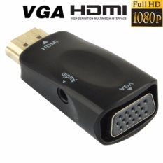 Toko Best Ct Full Hd 1080P Hdmi Male To Vga And Audio Adapter For Hdtv Monitor Projector Black Best Ct