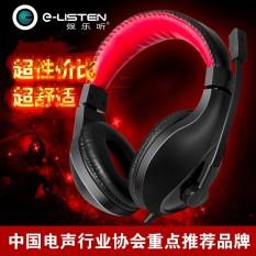 (Terbaik)-Hiburan Dengarkan H7200 Headphone Headphone Permainan Subwoofer Desktop Laptop dengan Mikrofon Headset-Internasional