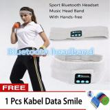 Toko Jual Best Hat Headband Olahraga Musik Stereo Bluetooth Earphone Built In Microphone Earphone Topi Wireless Bluetooth Headband Free 1 Pc Kabel Data Smile