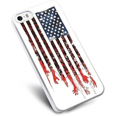 Terbaik Horror TV Series (The Walking Dead American Flag Zombie) untuk IPhone dan Samsung Galaxy Case (iPhone 5/5 S Putih)-Intl