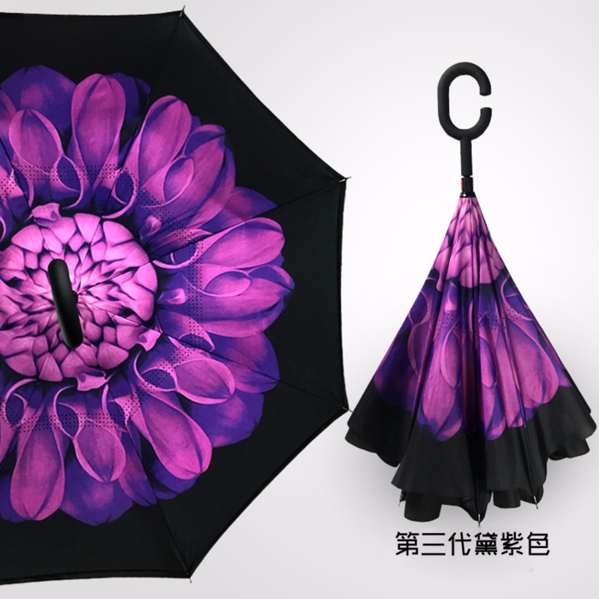 Tips Beli Best Payung Terbalik Gagang C Reverse Umbrella Payung Lipat Mobil 27 Ungu Yang Bagus