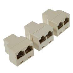 Spek Best Rj45 Cat5 Kabel Ethernet Lan Port 1 To 2 Konektor Soket Splitter 3 Buah Best