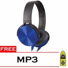 Spesifikasi Best Seller Headphone Mdr Xb450Ap Mp3 Blue Beserta Harganya