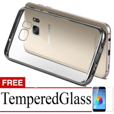 Best Seller Softcase Ultrathin List Chrome For Samsung Galaxy S7 Edge + Free Temperred Glass -