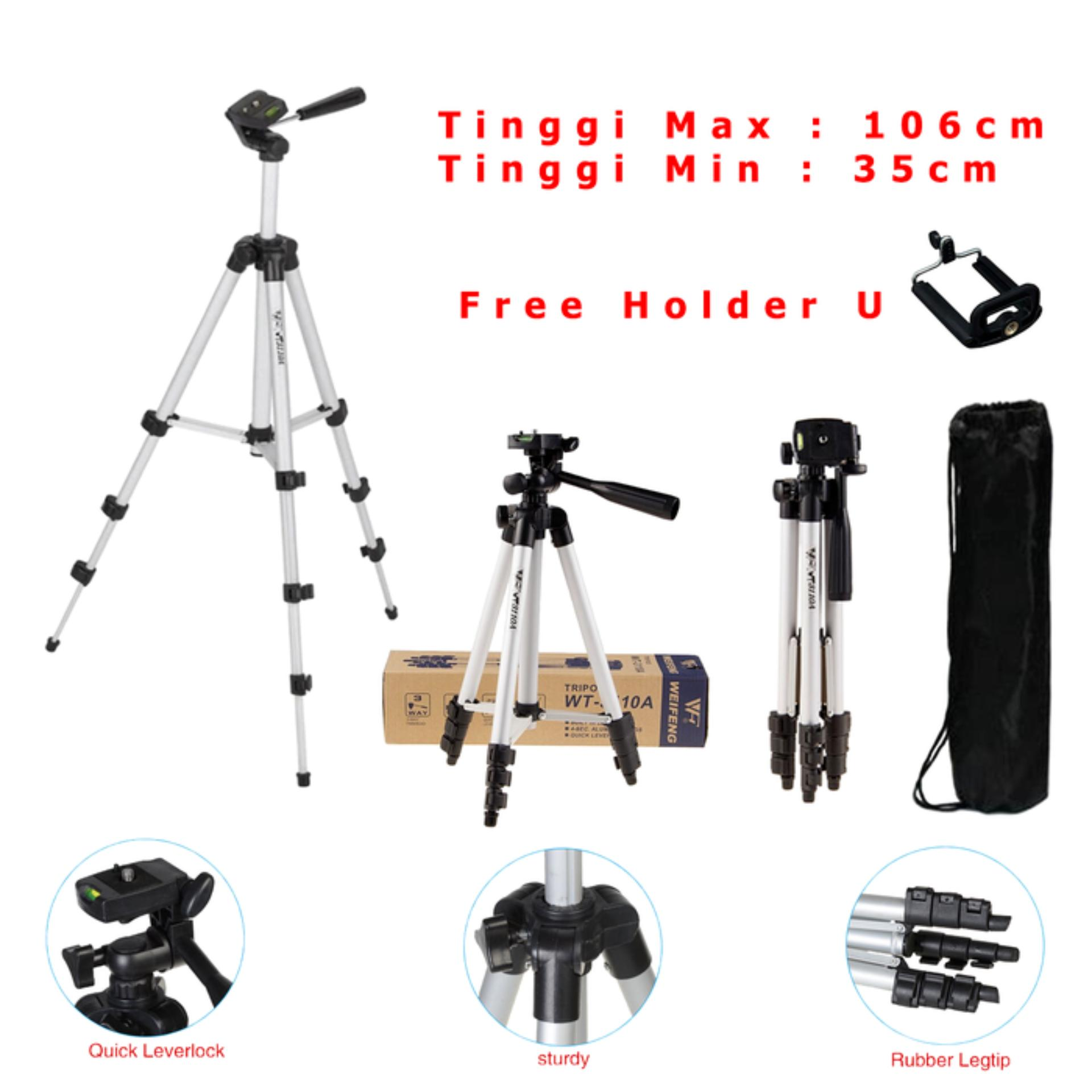 Best Seller Tripod Weifeng WT-3110A + Free Holder U Handphone / HP WT 3110A
